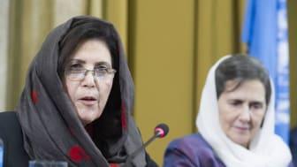 Dr Alema och First Lady på Genèvekonferensen om Afghanistan november 2018.