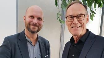 Stefan Norr, försäljningschef på Visma Commerce och Halldor O Sigurdsson, Chief Executive Officer på Ríkiskaup.