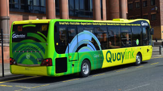 Passengers using the Q3 Quaylink service can use contactless payments from today (21 June 2017)