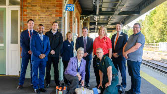 Defibrillators at every station - group shot