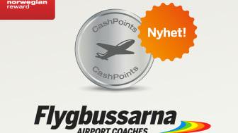 Flygbussbiljetter ger poäng hos Norwegian