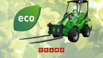 Vähäpäästöisten rakennuskoneiden ja -laitteiden kysyntä kasvaa – Cramo lanseeraa uuden vihreän tuotelinjan
