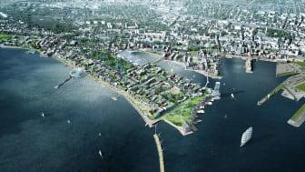 Trelleborgs kommun, Balder och Skanska ska gemensamt utveckla knappt en tredjedel av de 5000 bostäder som kommunen planerar för inom det befintliga hamnområdet.
