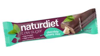 Naturdiet Low Sugar Mealbar med mintchoklad är en fin hjälp i vardagen för alla som vill leva hälsosamt och tänker på vikten.