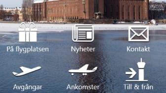 Swedavias flygplatsapp för Windows Phone 8 och Windows 8