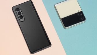 Galaxy Z Fold3 og Galaxy Z Flip3 er mer kraftfull, har vannbestandig IPX81-sertifisering og er bygget i Armour aluminium