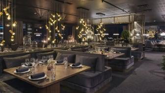 SVALBARDS BESTE HOTELL: Funken Lodge har blitt en hotellperle med historisk sus: 88 nyoppussede rom, Svalbards beste restaurant, en omfattende vin- og champagnemeny og øygruppens eneste cocktailbar. Foto: Hurtigruten Svalbard/Agurxtane Concellon