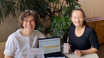 Catrin Schöne und Ekaterina Trivonova (von links) interessieren sich für die Selbstwirksamkeitserwartungen von Menschen mit epileptischen und nicht-epileptischen Anfällen.