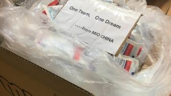 Mio donerar 15.200 ansiktsmasker till sjukvården