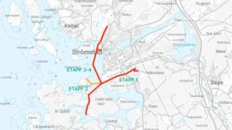 15 km sjöledning och landfästen i Strömstad.1