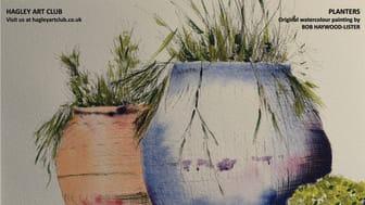 Hagley Art Club brings a splash of colour to local railway station