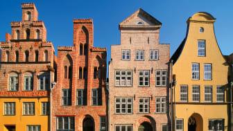 Lübeck: historiske bygninger i gamle byen