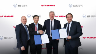 From left: Yanmar Europe President,  Peter Aarsen; Yanmar Energy Systems Chairman and CEO, Tetsuya Yamamoto;  Eschenfelder KKU Group CEO, Oliver Eschenfelder; Eschenfelder Concept Director, Sven Schwarze