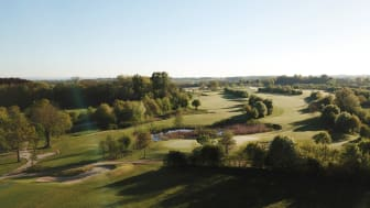 """Maritim Golfpark Ostsee"" at the Baltic Coast in Germany, where golfers can drive, putt and pitch with views of the sea and lake."