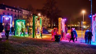 Pride var en av installationerna under Drömljus.  Av Prosit Design/Åse Persson. Fotograf: Carl Magnus Johansson-Lindkvist