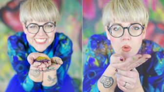 Caroline Malmsjö, för att ladda ner som högupplöst pressbild se länk nedan. Foto: Sweet colorful photography.