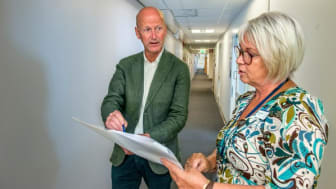 Anders Boman och Saija Sethfors diskuterar planerna