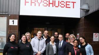 Kronprinsessparet besöker Fryshuset i Malmö. Foto: Sara Friberg/Kungl. Hovstaterna