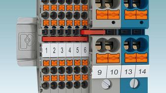 Potentialplinten PTU 35/4X10 tillsammans med PT 2,5-QUATTRO
