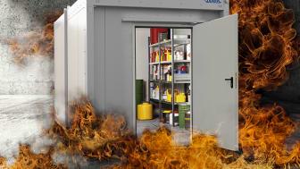 Brandklassad miljöcontainer som uppfyller REI 90
