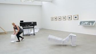 Joanna Hutton - performance; paper, HP Designjet printer, laptop