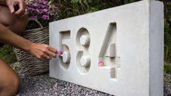 Smyckande husnummer – gör det själv