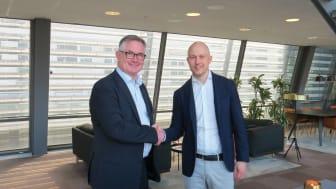Johan Malmliden, Omegapoint, Patrice Jabet, FSN Capital träffas i samband med att FSN Capital blir ny majoritetsägare i Omegapoint.