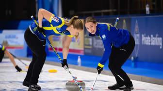 Delar av damernas landslag i curling