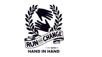 "Logga för kampanjen ""Run for Change with Hand in Hand"""