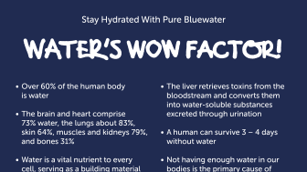 Bluewater underlines the importance of staying properly hydrated when suffering a fever