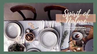 Spirit of Nature: Stylish tableware ideas for a cosy autumn