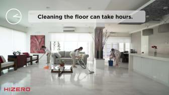 Hizero BionicFloor vacuums, mops and dries hard floors