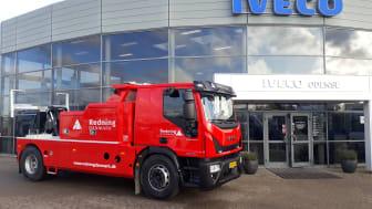Redning Danmarks nye minibjærger er opbygget på en IVECO Eurocargo ML180E28 med 12-trins automatgear.