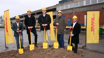 Första spadtaget för DHL:s nya terminal i Västberga – mångmiljoninvestering på svenska marknaden
