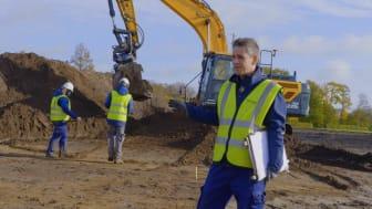Arkæolog, Jakob Bonde, er ansvarlig for udgravningen