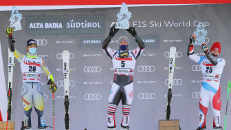 ​Alexis Pinturault leads triple HEAD victory in Alta Badia, Corinne Suter again fastest in the Downhill