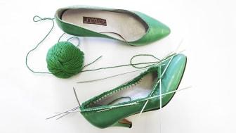 Sticka skoskaft till pumpsen - Nya teknikhäftet Ändra lär dig hur du förnyar garderoben utan att konsumera mera. Foto: Karin Björkquist