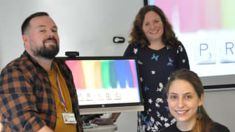 Pictured: The Northumbria University team working on the 'Out and About' project. (LR) Dr Antonio Portas, Frances Hamilton and Daria Onitiu.
