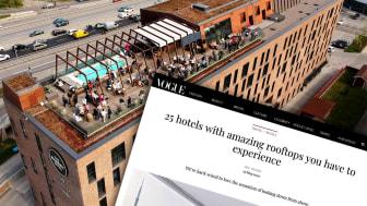 Winery Rooftop Terrace högst upp på The Winery Hotel uppmärksammas i internationell press
