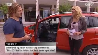 """LYNET MC QUEEN FRA BILER 2 AFSLØRER EGEN ØSE I """"GO' AFTEN DANMARK"""""""