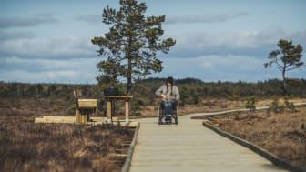 Välbyggda spänger på Dumme Mosse är ett gott exempel på tillgänglighetsåtgärder i Jönköping.