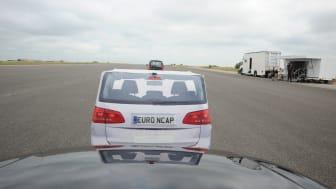 AEB 'Inter Urban' testing - driver view