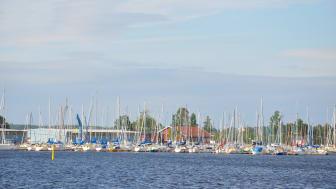 Unik provtagning på båtskrov visar  - inga höga halter av tenn på båtar i Vänern.