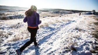 Solen sken på deltagarna i Sandsjöbacka Trail Winter 2016