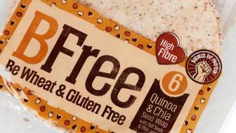 Nå kommer super-wrapsen. Glutenfri wrap med quinoa og chiafrø