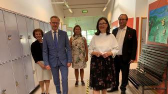 Minstrar besökte Källebergsskolan i Eslöv
