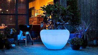 Scoop Light blomkruka med LED Belysning