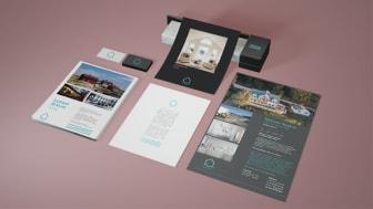 H2O Mäklares grafiska profil framtagen av Ames Studio