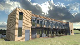 Nordic Smart House bygger prefabrikkerte modulhjem (Illustrasjon: Nordic Smart House)