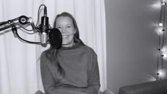 Emma Henriksson är veckans gäst i podden Idéburen välfärd. Foto: Rebecca Hagman, Skyddsvärnet.